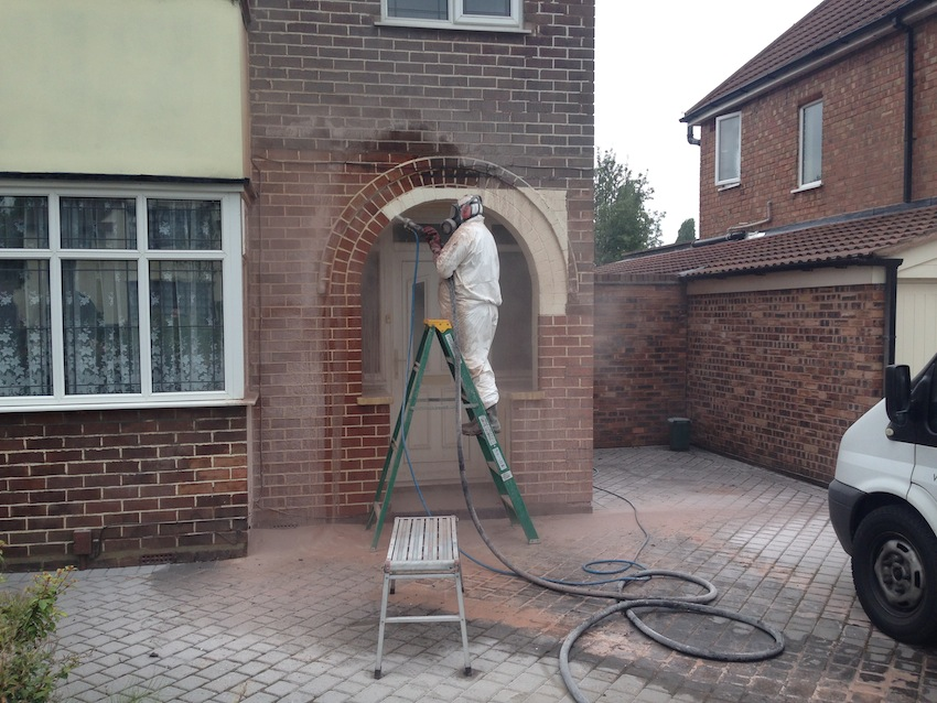 Architecture buildings soda blasting uk - How to clean brick house exterior ...