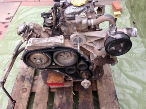Land Rover engine - before