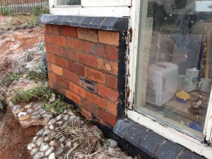 Paint removed and bricks cleaned