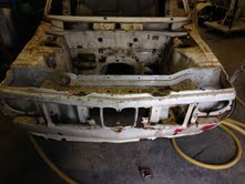 Stripping paint from a BMW 2002