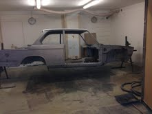 bmw 2002 soda blasted and media blasted