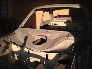 Blast cleaned Mk1 Ford Escort