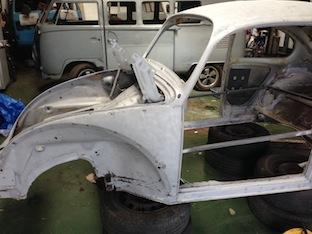 Soda Blasted VW Beetle