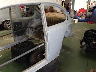 Blast cleaned VW Beetle