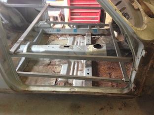 MK 1 Ford Escort rusty frame restoration