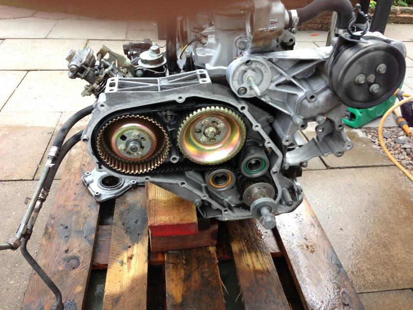 soda blasted engine