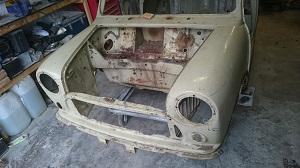 classic mini engine bay