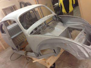 VW Beetle - soda and media blasting