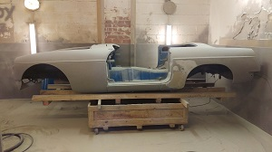 paint stripped mgb