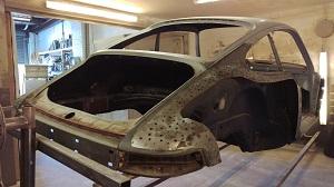 Porsche 911 offside rear quarter