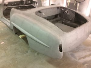 paint removal from rear quarter of mercedes benz 190sl