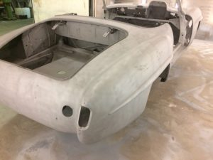 bare shell of mercedes benz 190sl