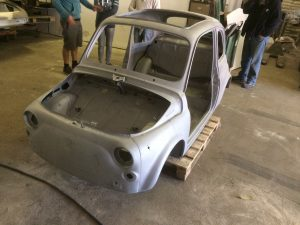 paint stripping fiat 500