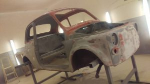 classic Fiat 500 paint removal