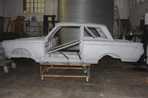 Paint stripped Ford Cortina