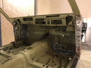 Ford Capri interior shell