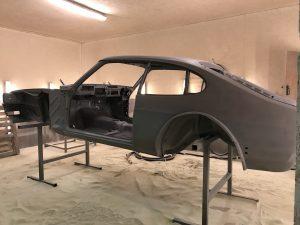 Shot blasted Ford Capri