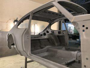 Ford Capri blast cleaned