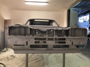 Ford Capri paint stripped
