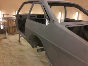 Ford Escort paint removal