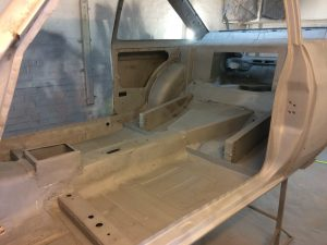 Ford Escort interior stripped