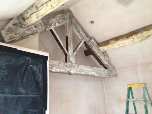 oak beam cleaning