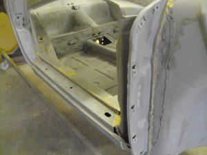 Blast cleaned inside of Porsche 911