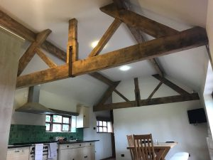example of media blasting - oak beams