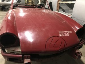 triumph spitfire bonnet on arrival