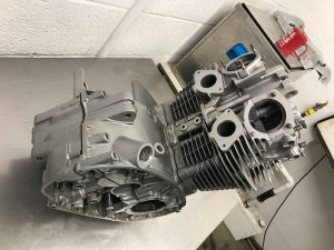 vapour blasted engine
