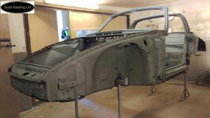blast cleaned Porsche 912